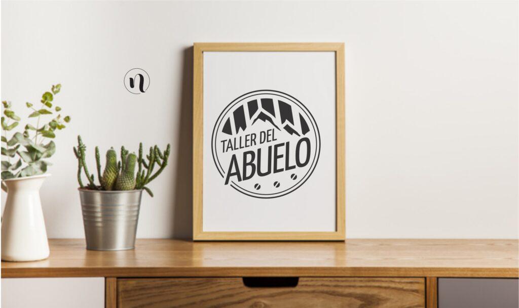 diseño de logo para taller del abuelo